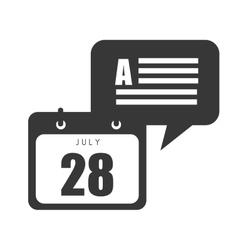 calendar with speech bubble vector image