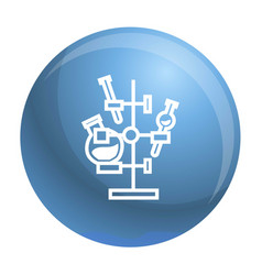 Chemical flask stand icon simple style vector