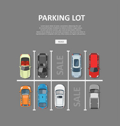 city car parking in flat style vector image
