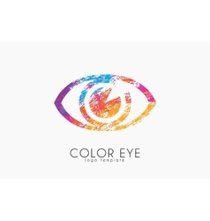 Color eye logo Eye logo Creative logo vector
