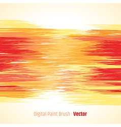 Digital paint background red vector image
