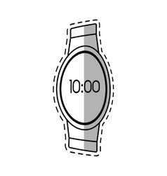 digital smart watch time screen shadow vector image