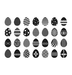 Easter egg icons vector