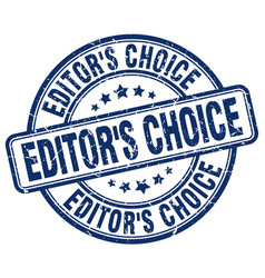 Editors choice blue grunge stamp vector