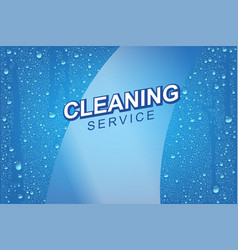 emplate for windows cleaning vector image