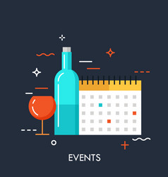 events flat concept vector image