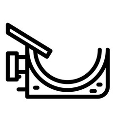 Exterior gutter icon outline style vector