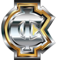Fancy cent symbol vector image