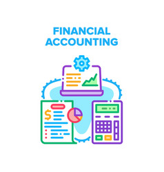 Financial accounting work concept color vector