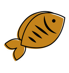 fish seafood fresh nutrition icon vector image