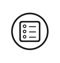form line icon with a circle on a white background vector image