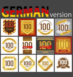 German set number 100 templates vector
