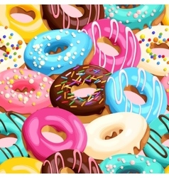 Glazed donuts seamless vector