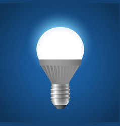 Glowing led light bulb - modern realistic vector