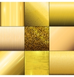 Golden texture pattern template vector image
