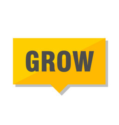 grow price tag vector image