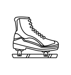 ice roller skate sport equipment line image vector image