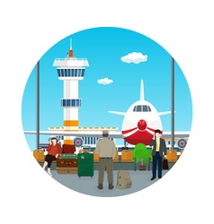 Icon Waiting Room in Airport vector