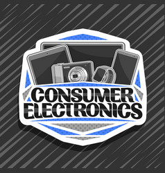 logo for consumer electronics vector image