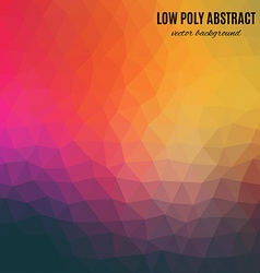 Low poly abstract background Blue and orange vector image