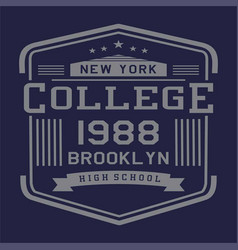 new yrk college brooklyn vector image