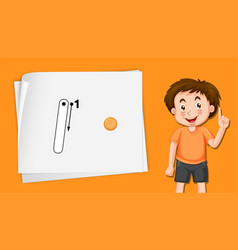 Number five tracing alphabet worksheets vector