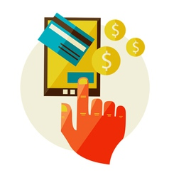 Processing mobile payments vector