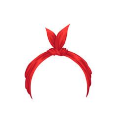 Retro headband for woman mockup decorative vector