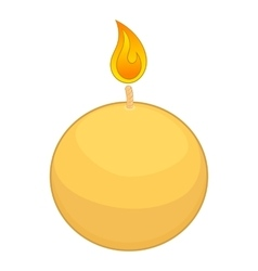 Round candle icon cartoon style vector