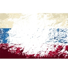 Russian flag Grunge background vector image