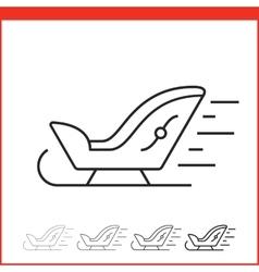 Santa Sleigh icon vector