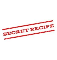 Secret Recipe Watermark Stamp vector image