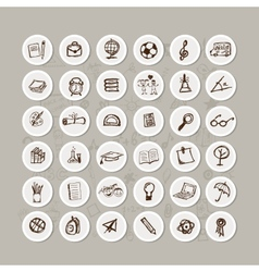 Set of school icons for your design vector image