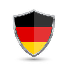 shield with flag of german isolated vector image