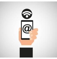 Smartphone mail wifi icon vector