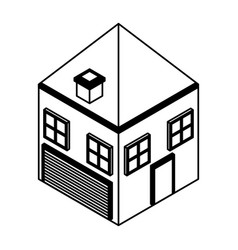stable farm isometric icon vector image
