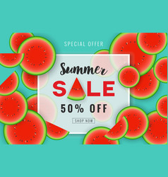 summer sale promotion banner background design vector image