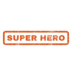 Super Hero Rubber Stamp vector