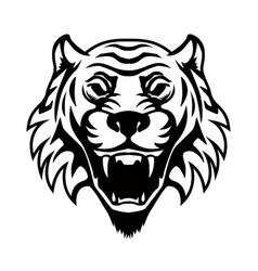 Tiger head design element for logo label emblem vector
