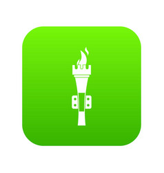 torch icon digital green vector image