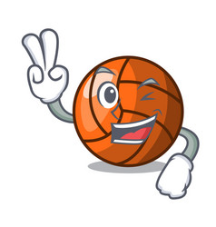 Two finger volleyball character cartoon style vector