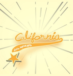 typography slogan vintage with summer california vector image