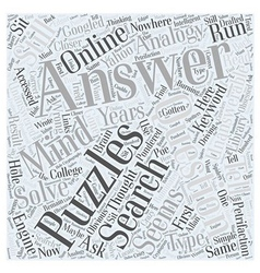 Unanswered Mind Puzzles Word Cloud Concept vector image