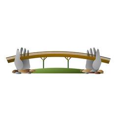 Vietnam hand bridge icon cartoon style vector