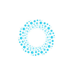 water vortex from blue circles bubbles drops vector image