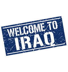 Welcome to iraq stamp vector