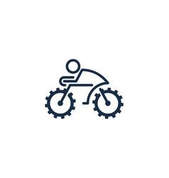 wheel bike logo icon design vector image