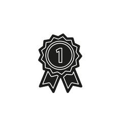 winner icon - gold prize - prize champion emblem vector image