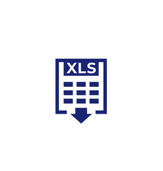 Xls download document icon vector