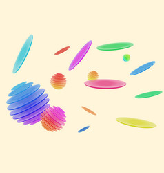 Abstract three-dimensional drawing with plates vector